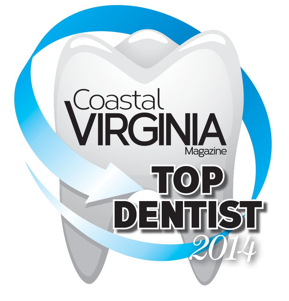 Dr. Heffelfinger voted one of the TOP DENTISTS in 2014 by Coastal Virginia Magazine